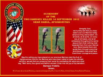 IN MEMORY OF OUR MARINES