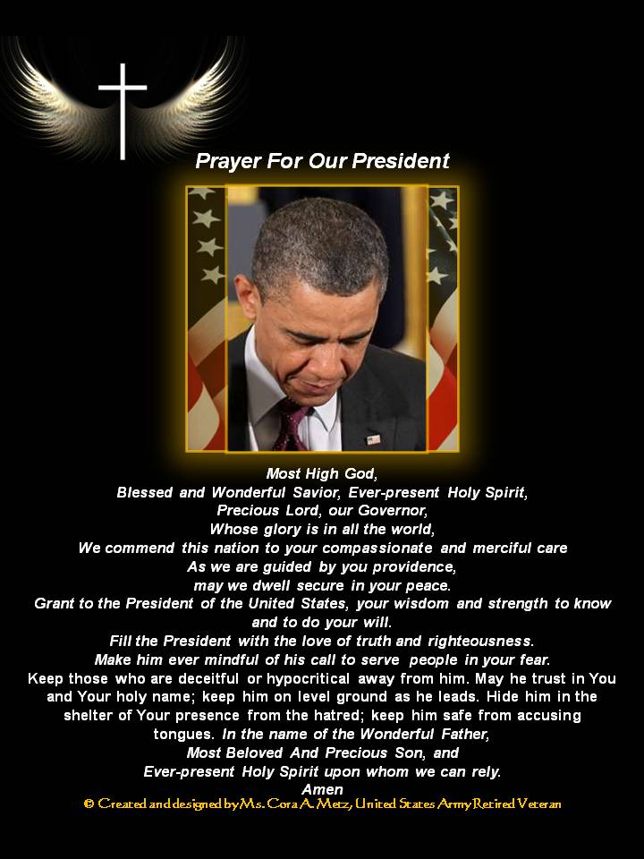 PRAYER FOR OUR PRESIDENT - Copy